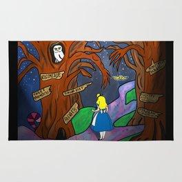 Alice in Wonderland in the Forbidden Forest Rug