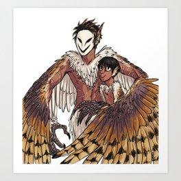 Harpy Spook & Micah Art Print