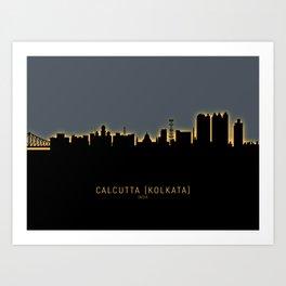 Kolkata Calcutta India Skyline Art Print