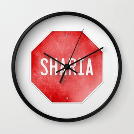 Stop Sharia Wall Clock