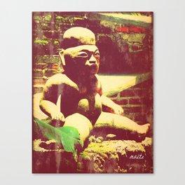 Mayan figurine Canvas Print