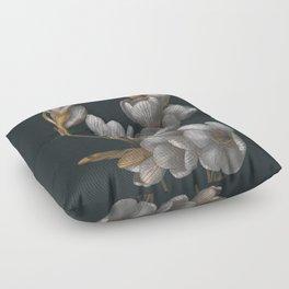 Night Flowers Floor Pillow