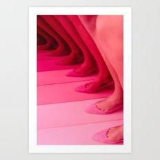 Pink Legs Art Print