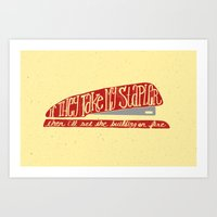 the office Art Prints featuring Office Space by Drew Wallace