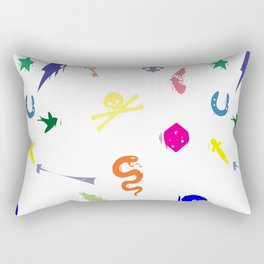 Bully Print Rainbow inverse Rectangular Pillow
