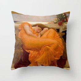 FLAMING JUNE - FREDERIC LEIGHTON Throw Pillow