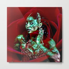ORIENTAL ROSE QUEEN Metal Print