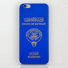 Kuwaiti Pass Port iPhone & iPod Skin