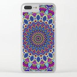 Sapphire Mandala Clear iPhone Case