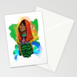 Ustup - kuna/guna girl Stationery Cards