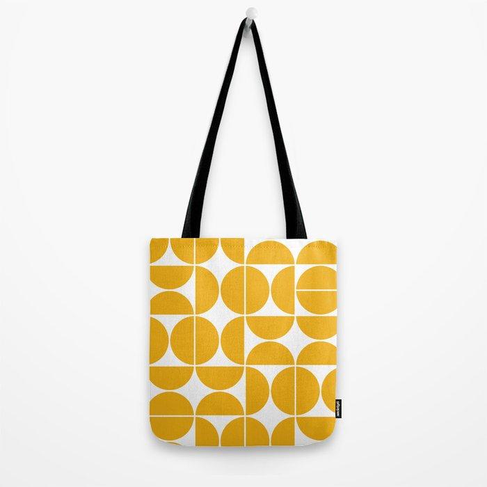 Mid Century Modern Geometric 04 Yellow Tote Bag