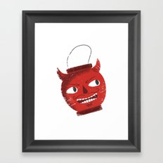 The devil inside Framed Art Print
