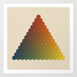 Lichtenberg-Mayer Colour Triangle vintage variation, Remake of Mayers original idea of 12 chambers Art Print