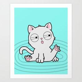 Kitty Bath Time Art Print
