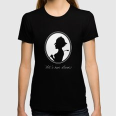 Let's Have Dinner Womens Fitted Tee Black SMALL