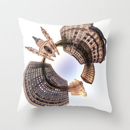 Holey planet with Basilica Throw Pillow