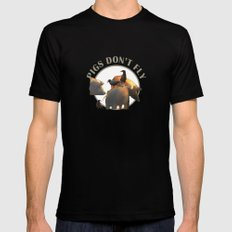 Pigs Don't Fly Mens Fitted Tee MEDIUM Black