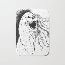 Screeching Skeleton banshee Bath Mat