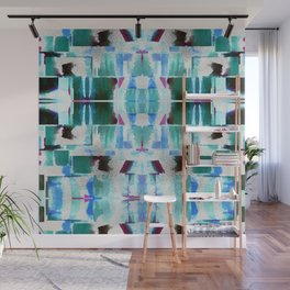 Babalon - Abstract Geometry Teal Wall Mural
