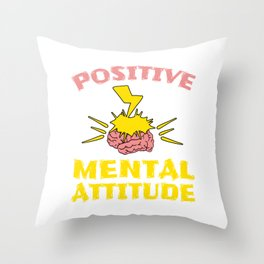 """Stay optimist with this cool and awesome """"Positive Mental Attitude"""" tee design. Makes a unique gift! Throw Pillow"""