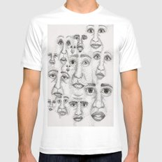 Faces MEDIUM Mens Fitted Tee White