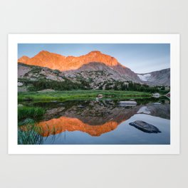 Deep Alpenglow in the Far Backcountry Art Print