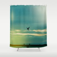 fly Shower Curtains featuring Fly by Viviana Gonzalez