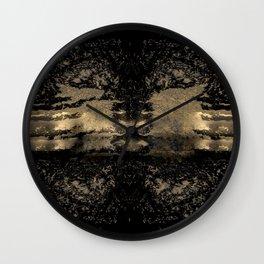 A Sea of Onyx & Gold Wall Clock