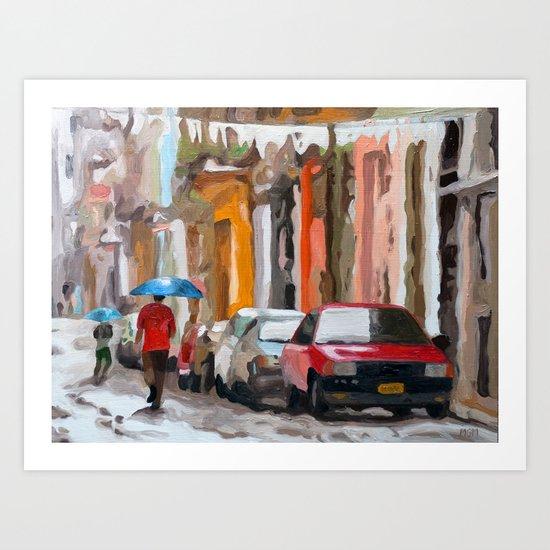 Havana Rain Art Print