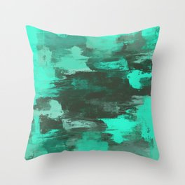 Chill Factor - Abstract in blue Throw Pillow