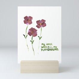 Dark Pink Flowers Mini Art Print