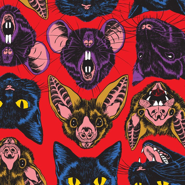 Bats! Cats! Rats! Leggings