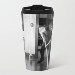Cleaning Up After Jackson Pollack 1 Metal Travel Mug