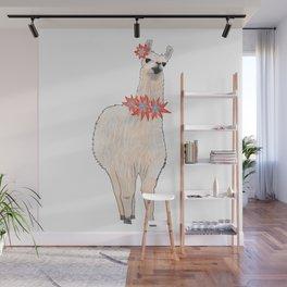 I'm a Llama & I'm Pretty Wall Mural