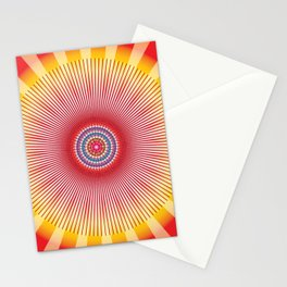 Sun Mandala - מנדלה שמש נצחית Stationery Cards