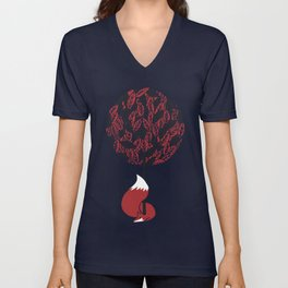 The guardian of the red tree Unisex V-Neck