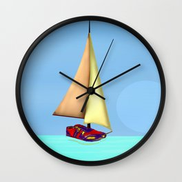 May on Sailing Trainers - shoes stories Wall Clock