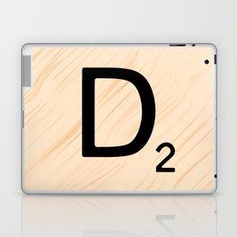 Scrabble Letter D - Large Scrabble Tiles Laptop & iPad Skin