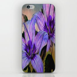 Vintage Painted Lavender Lily iPhone Skin