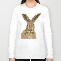 hare Long Sleeve T-shirts featuring Happy Hare by ArtLovePassion
