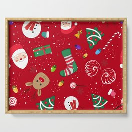 Happy New Year Theme Pattern Serving Tray