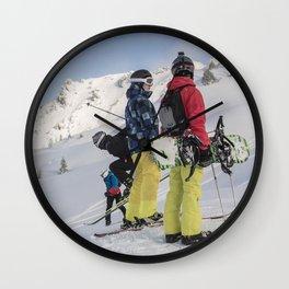 Skiers 2017 Wall Clock