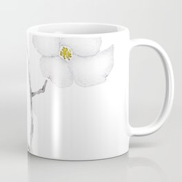 white dogwood flower watercolor Coffee Mug