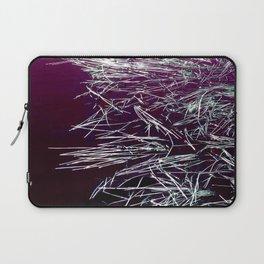 Purple Lake & Silver Reeds Laptop Sleeve