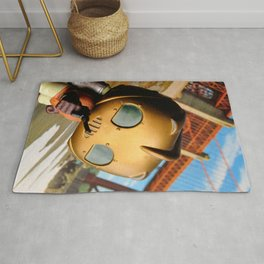 The Rocketeer at the Golden Bridge (USA) Collage Pop! Toy Photography Rug