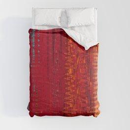 Warm red & turquoise Floor Pattern Art Comforters