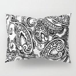 paisley batik black Pillow Sham