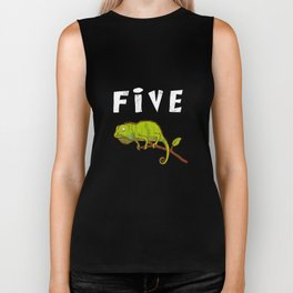 Kids 5 Year Old Lizard Reptile Birthday Party 5th Birthday Biker Tank