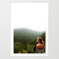 hiking Art Prints featuring Hiking by Jessica Krzywicki