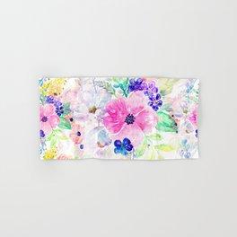 Pretty watercolor floral hand paint design Hand & Bath Towel